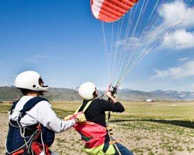 Paragliding Lesson Over Richmond