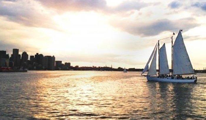 Boston Sunset Schooner Sailing