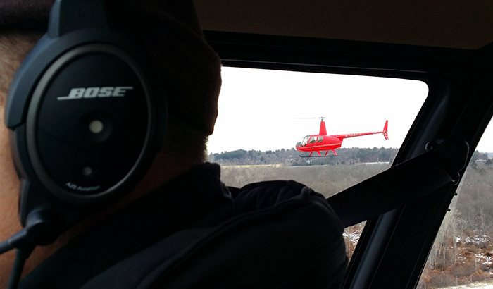 You are the Helicopter Pilot in Boston
