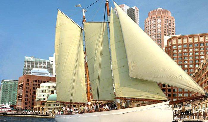 Boston Harbor Schooner Sailing
