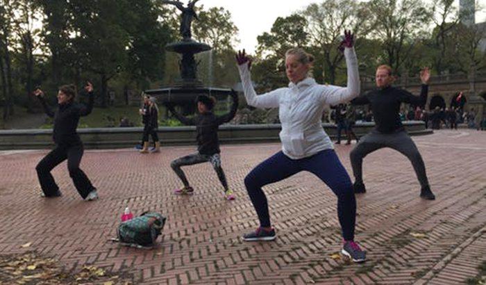 Central Park Sunrise Yoga Tour