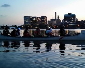 Charles River Moonlight Canoe Tour