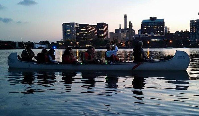 Charles River Moonlight Canoe Tour