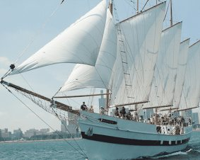 Chicago Skyline Tall Ship Sail For Two