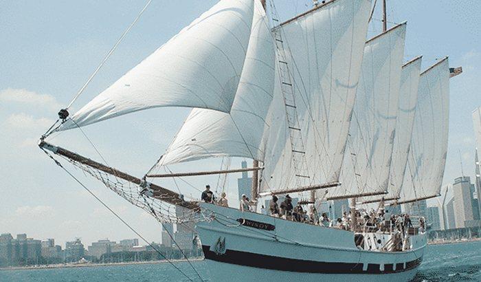 Chicago Skyline Tall Ship Sail