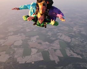 Tandem Skydiving Over Delmarva