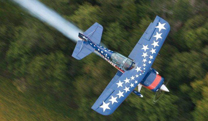 Biplane Flight Over Indianapolis