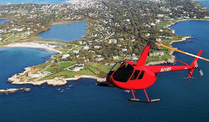 Helicopter Flight Lesson Over Newport