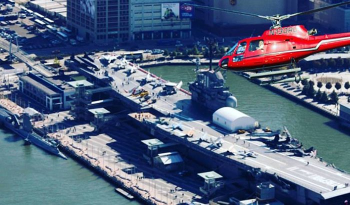 New York Helicopter Tour and Dinner Cruise