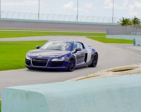 Homestead Speedway Audi R8 Driving