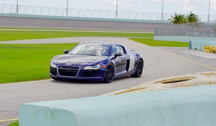 Homestead Speedway Audi R8 Driving