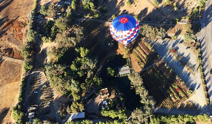 Temecula Private Champagne Balloon Flight