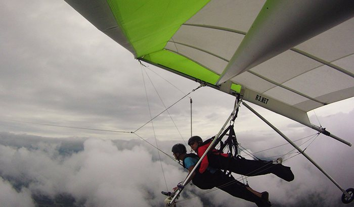 Hang Gliding Over Hudson Valley