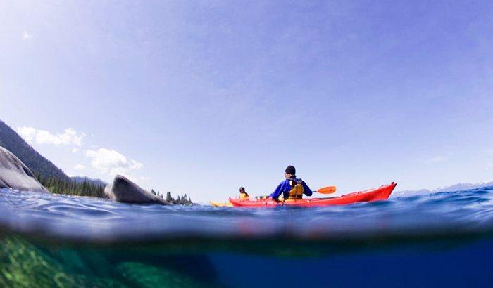 Kayaking Lesson On Lake Tahoe