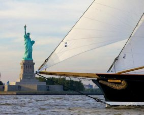 Schooner America Sailing New York