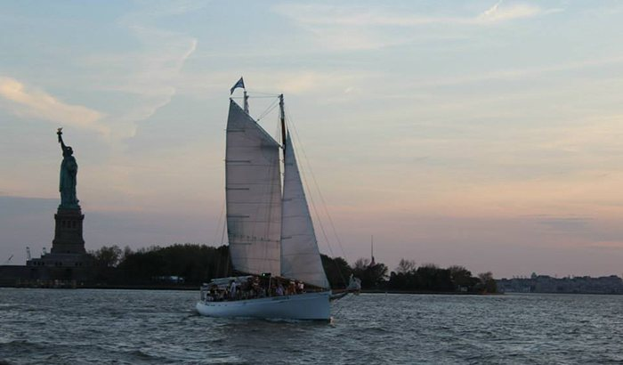 Sunset Schooner Sailing New York