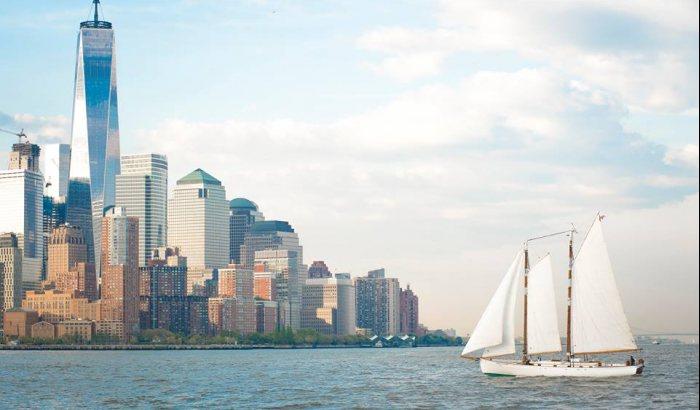 Schooner Sailing in New York
