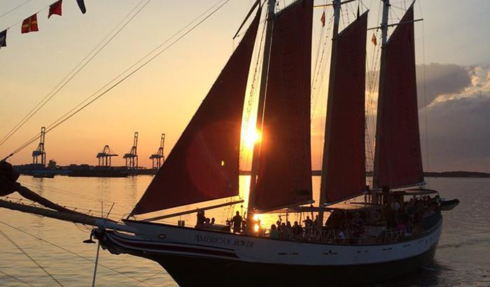 Sunset Sail on the American Rover