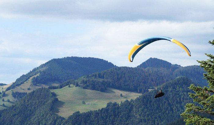Paramotor Paragliding Over Nez Perce