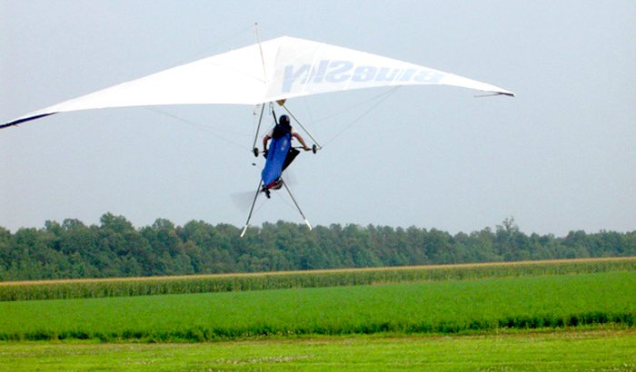 Hang Gliding Lesson Over Richmond