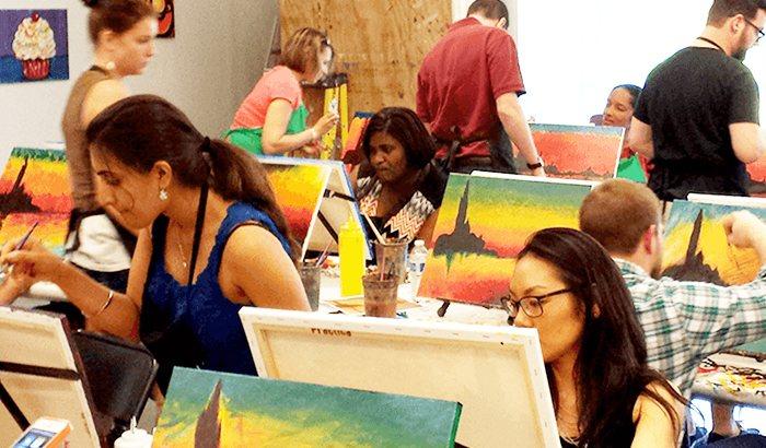 Rockville Cocktails and Canvas Paint Class
