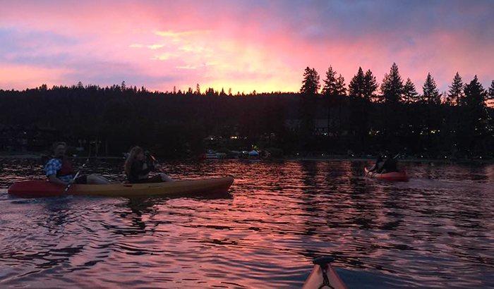 Sunset Kayaking Tour On Lake Tahoe