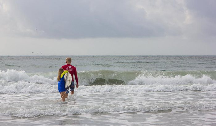 North Carolina Surfing Lesson