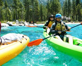 Kayaking Lesson On Lake Tahoe