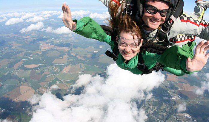 Tandem Skydiving Over Delmarva
