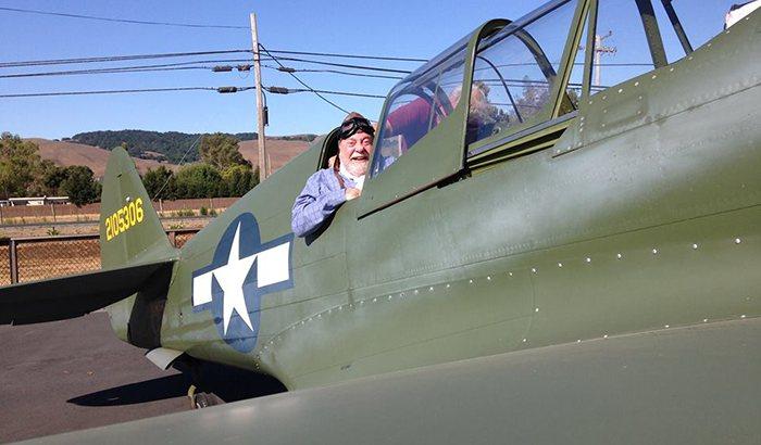 Vintage Aircraft Flight In Sonoma