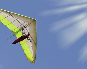 Tandem Hang Gliding Flight Over Whitewater
